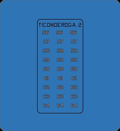 Ticonderoga Class CG Group #2 hull numbers