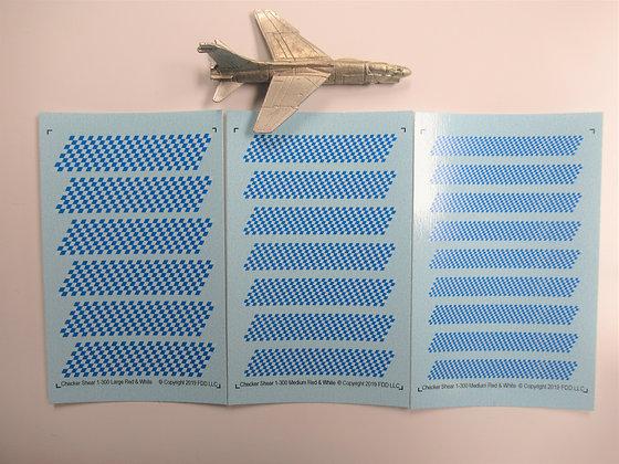 Shear 1-300 scale Checker Boards - Blue & White