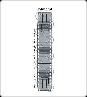 USN111a CVE-11 Card