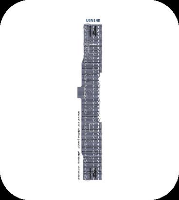 USN14b: CV-14 Ticonderoga*  MS blue