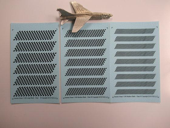 Shear 1-300 scale Checker Boards - Black & Clear