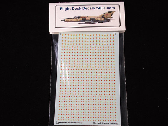 1-600 decals Soviet Red Stars with Yellow Outline