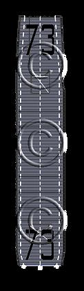 """CVE-73 Gambier Bay MS blue  """"Taffy3"""" 1-1800 scale"""