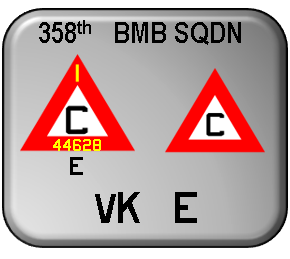 1-300 decals for 358th BMB SQDN High-visibility 1944