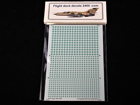 1-600 decals Egypt roundel 1945 to 1958