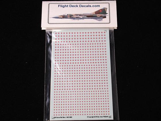 1-600 decals Soviet Red Stars White Red 1943-1992