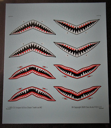 1-300 Fairmile Shark Teeth decal set type #2
