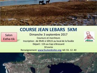 Venez nombreux participer au 5 km de la course Jean Lebars