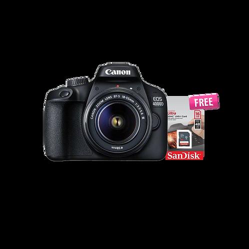 Canon EOS 4000D-WiFi/18.0 MP/3.0 Screen+ Lens 18-55