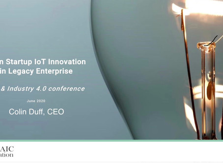 Lean Startup Innovation in Legacy Enterprise: IoT Industry 4.0 Talk