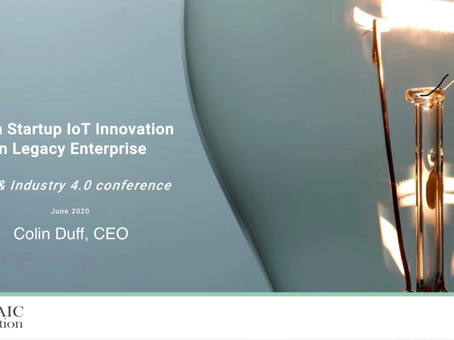 Lean Startup Innovation in Legacy Enterprise: IoT Industry 4.0 Talk