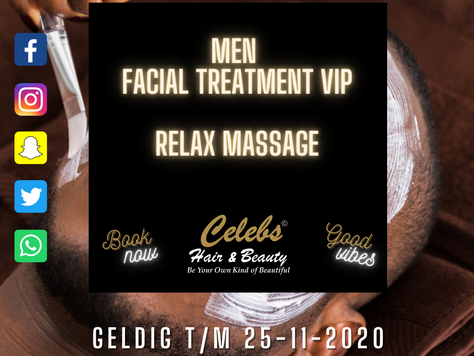 HERFST AKTIE 20% KORTING OP FACIAL MEN TREATMENTS & RELAXMASAGE: