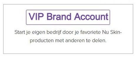 Account aanmaken Brand Affiliate VIP-Plu