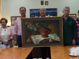 Δωρεά πίνακα ζωγραφικής από τον «Ερμιονικό Σύνδεσμο» στην Κοινότητα Ερμιόνης