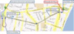 mapa pousada da praça