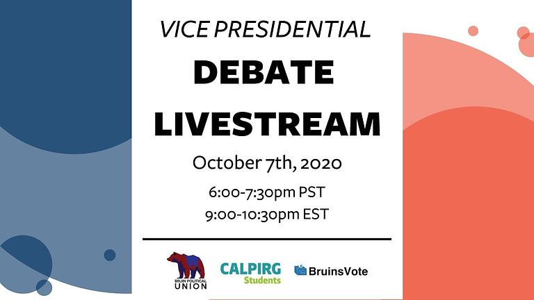VP Debate Livestream