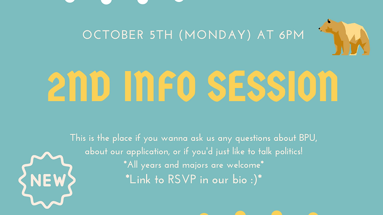 2nd Info Session
