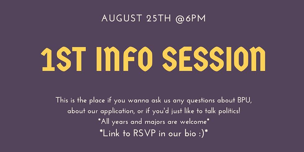 1st Info Session