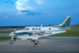Turboprop Plane on Runway