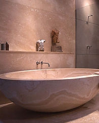 Bathroom renovation, replacement of bath, shower installation and tile replacement