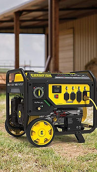 Generator being serviced and repaired