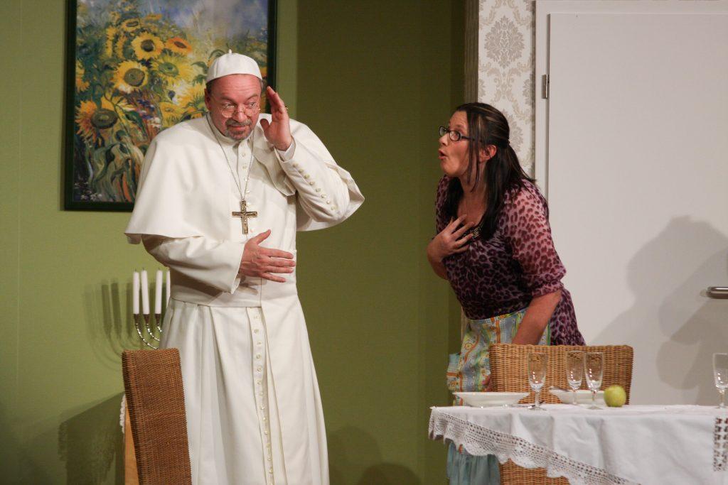 Papst in _der Tag, an dem der Papst geki