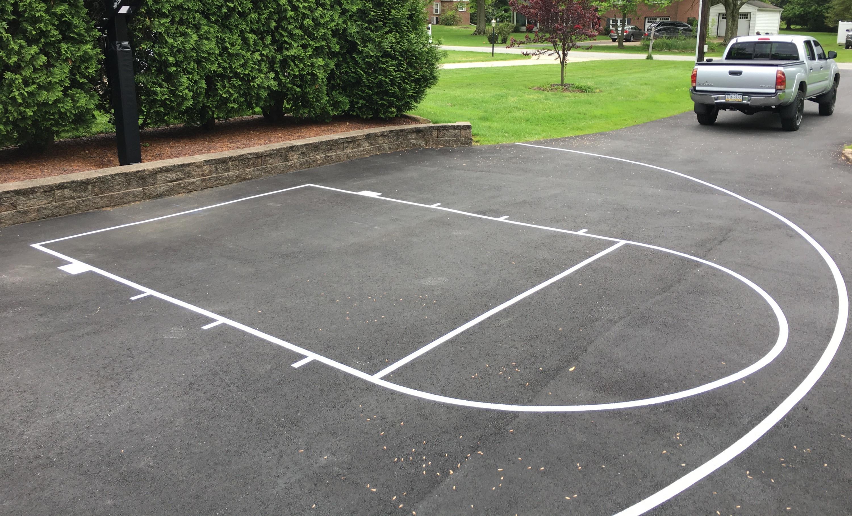 Half Basketball Court (NCAA 3pt-line)