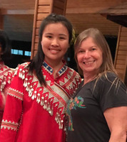 Guest, Sally with Hill Tribal Girl