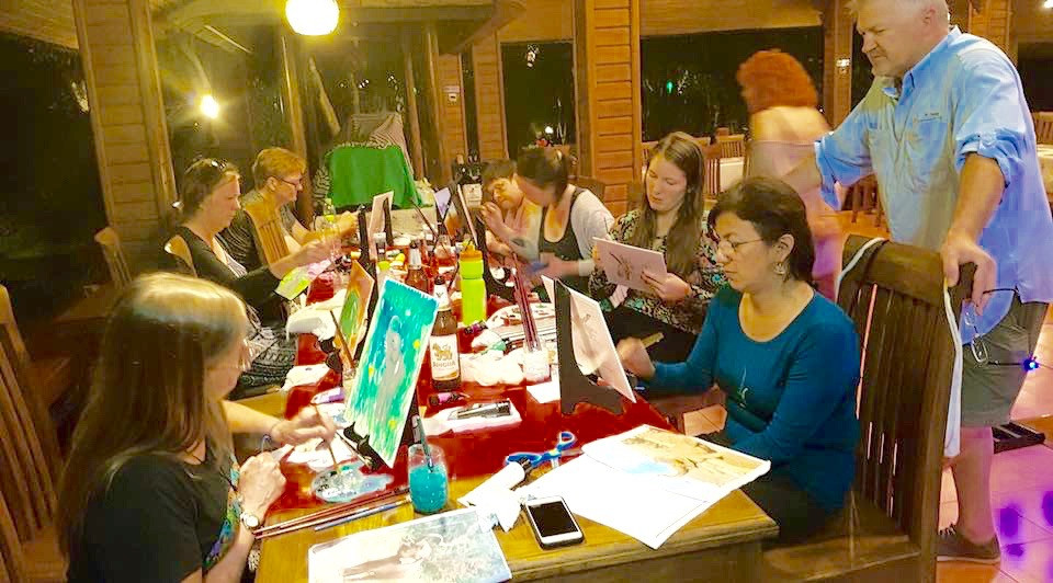 Painting Elephants in the Rainforest! (Photo. D. Rutter)