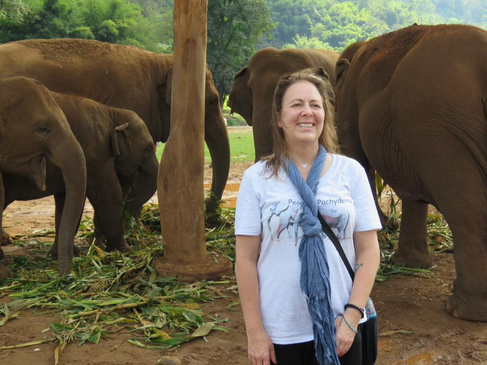 One of our wonderful Guests, Colby, visiting Elephant Nature Park