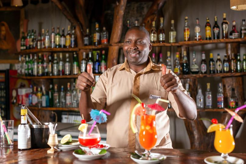 Bar at the Kibo Lodge