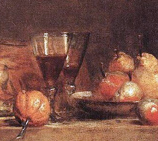 Detail from Chardin's 'Natura morta' (1760)