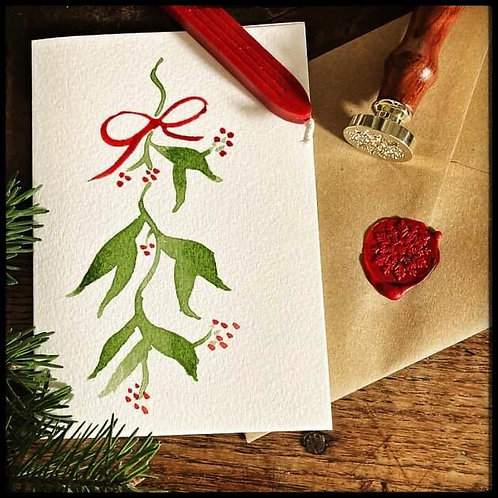 Christmas Card (Red Mistletoe)