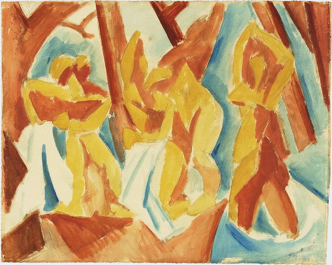 Picasso_Le Bagnanti nell Foresta