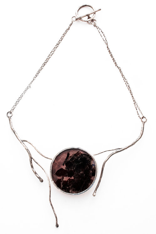 "Elemental ""Earth"" Silver, Copper, Mica Necklace"