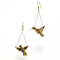 Flying hummingbird Earrings