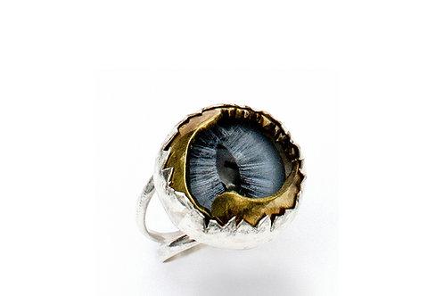 Taxidermy Cat Eye Ring