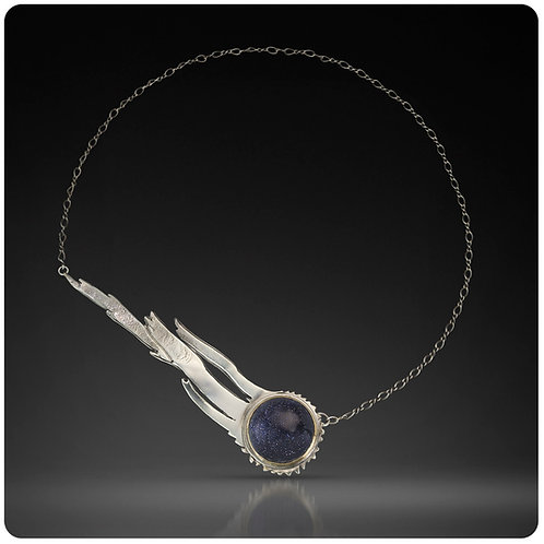 Shooting Star Necklace with back key clasp