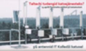 5G antennid Taltechi katusel pealkirjaga