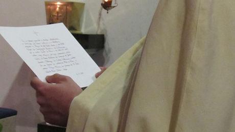 Carta profissão solene