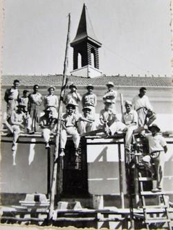Trabalhadores da construção da Abadia de Itatinga