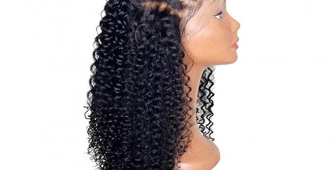 Curly pre-plucked Frontal Swiss Lace Wig