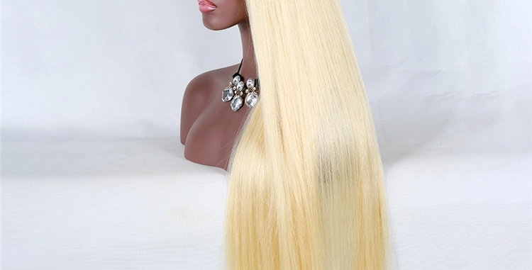 Luxury #613 Straight pre-plucked Full transparent lace Wig