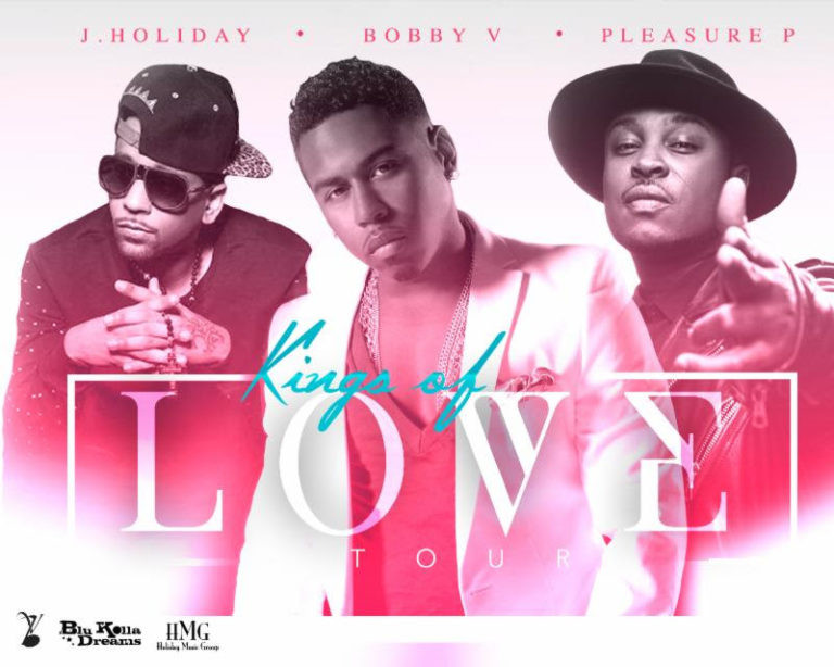 """J. Holiday, Bobby V And Pleasure P Join Forces For The 'Kings of Love Tour"""""""