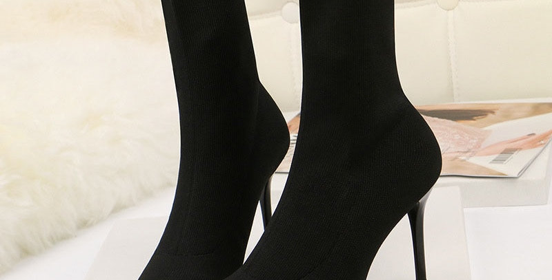 Sexy Sock Knitting Stretch High Heel Ankle Boots