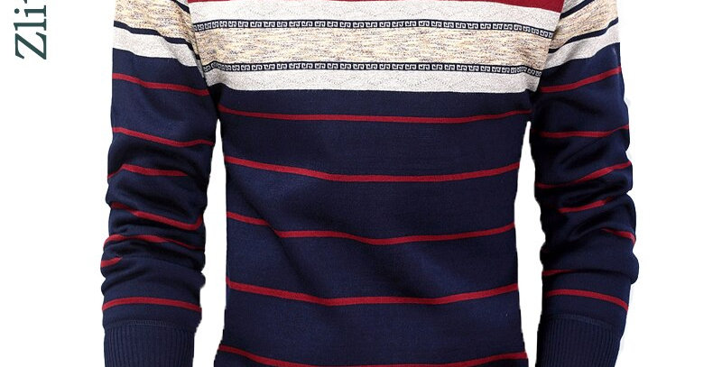 Casual Striped Camisa Pullover Sweater