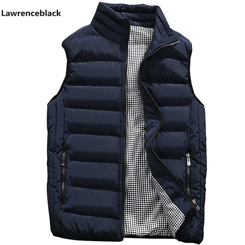 Sleeveless Cotton-Padded Casual Vest