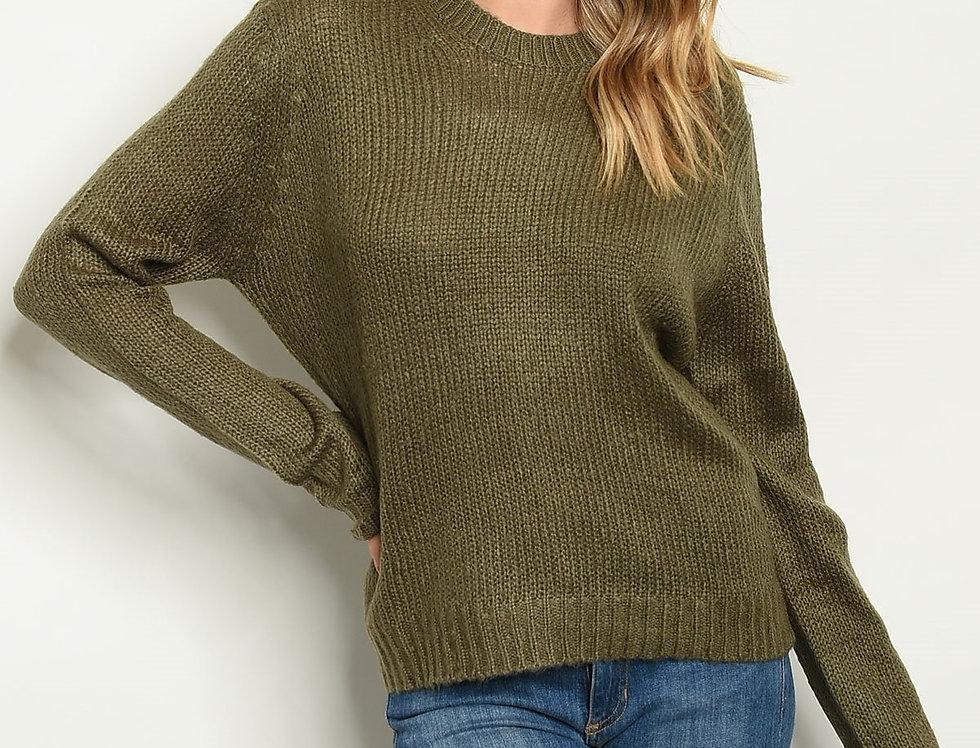 Round Neckline Knit Sweater