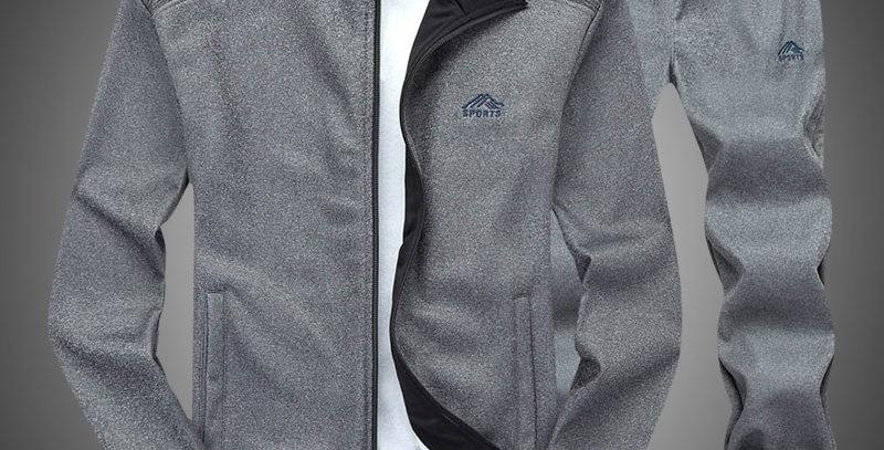 Two Piece Zipper Sweatshirt Jacket and Sweatpants Set