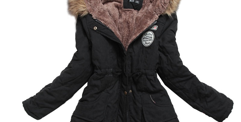 Winter Thick Warm Hooded Jacket Parka